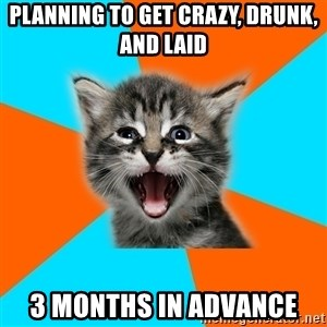 Ib Kitten - Planning to get crazy, drunk, and laid 3 months in advance
