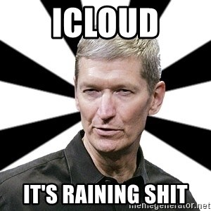 Tim Cook Time - icloud it's raining shit