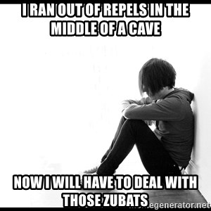 First World Problems - i ran out of repels in the middle of a cave now i will have to deal with those zubats