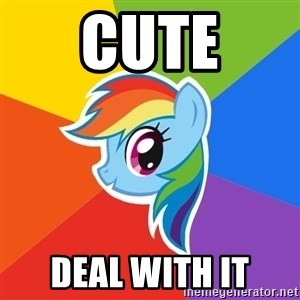 Rainbow Dash - Cute Deal with it