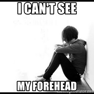 emo kid  - I can't see my forehead