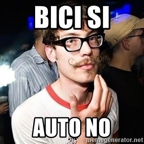 Super Smart Hipster - Bici Si auto no