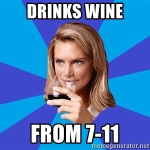 Middle Class Milf - Drinks wine from 7-11