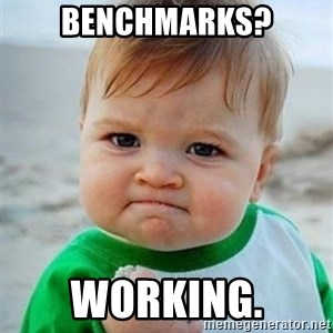 victory kid - Benchmarks? Working.