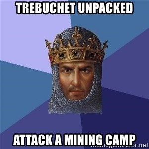 Age Of Empires - Trebuchet unpacked Attack a mining camp