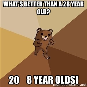 Pedo Bear From Beyond - What's better than a 28 year old? 20    8 year olds!