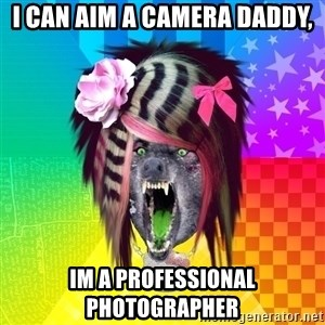 Insanity Scene Wolf - I can aim a camera daddy, Im a professional photographer