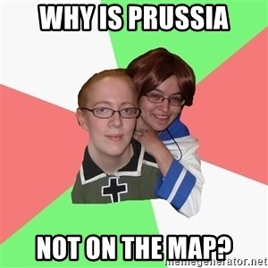 Hetalia Fans - why is Prussia not on the map?