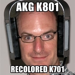 Typical Headfier - akg k801 recolored k701