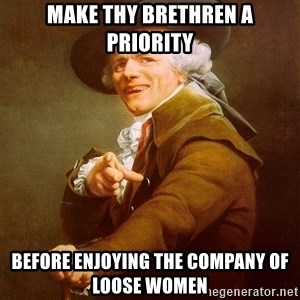 Joseph Ducreux - Make thy brethren a priority before enjoying the company of loose women