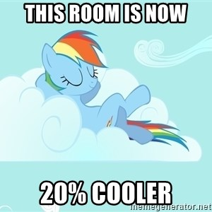 Rainbow Dash Cloud - this room is now 20% cooler