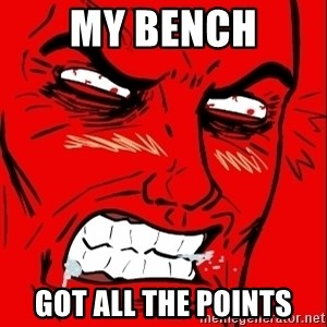 Rage Face - my bENCH Got all the points