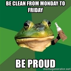 Foul Bachelor Frog (Alcoholic Anon) - Be clean from monday to friday be proud