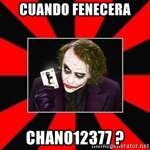 Typical Joker - cuando fenecera  chano12377 ?