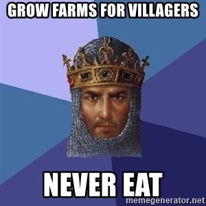 Age Of Empires - grow farms for villagers never eat