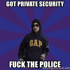 Contradictory Anti-Imperialist Protester - got private security fuck the police