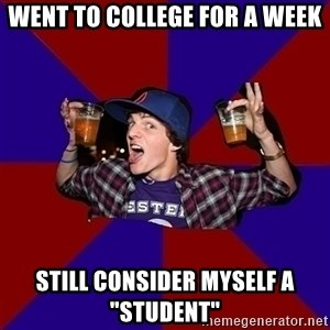 """Sunny Student - went to college for a week still consider myself a """"student"""""""