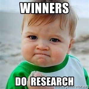 victory kid - winners do  research