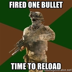 Call Of Duty Addict - fired one bullet time to reload