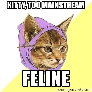 Hipster Kitty - kitty, too mainstream feline