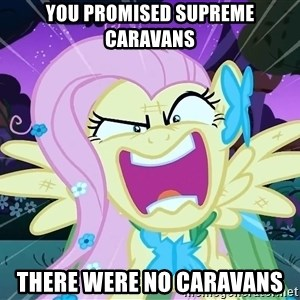angry-fluttershy - you promised supreme caravans there were no caravans