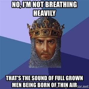 Age Of Empires - No, I'm not breathing heavily that's the sound of full grown men being born of thin air