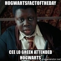 Harry Potter Black Kid - hogwartsfactoftheday cee lo green attended hogwarts