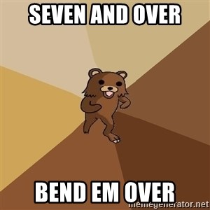 Pedo Bear From Beyond - seven and over  bend em over