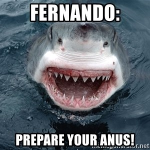 Insanity Shark - FERNANDO: PREPARE YOUR ANUS!
