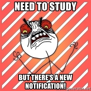 iHate - NEED TO STUDY BUT THERE'S A NEW NOTIFICATION!