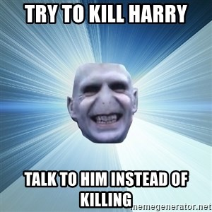 Awkward Wizard - try to kill harry talk to him instead of killing