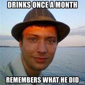 Beta Tom - drinks once a month remembers what he did