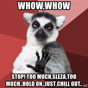 Chill Out Lemur - whow,whow Stop! Too much,Sleza,too much..hold on..just chill out..
