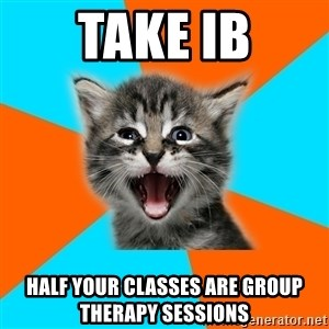 Ib Kitten - Take ib half your classes are group therapy sessions