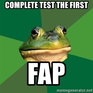 Foul Bachelor Frog - Complete test the first fap