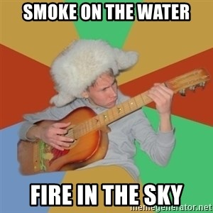 Guitarist - Smoke on the water Fire in the sky