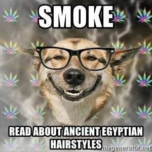 Stoner Nerd - smoke read about ancient egyptian hairstyles