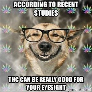 Stoner Nerd - According to recent studies THC can be really good for your eyesight