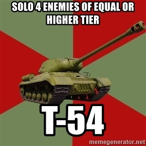 IS-2 Greatest Tank of WWII - Solo 4 enemies of equal or higher tier T-54
