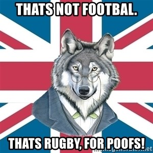 Sir Courage Wolf Esquire - thats not footbal. thats rugby, for poofs!