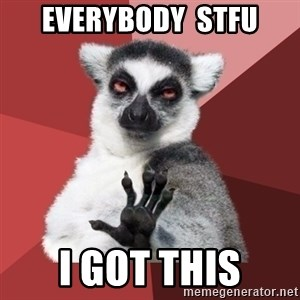 Chill Out Lemur - everybody  stfu i got this