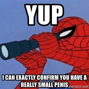 Spiderman Lunar Eclipse - yup i can exactly confirm you have a really small penis