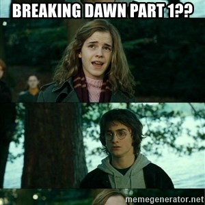 Harry Hermione Scare Tactic - breaking dawn part 1??