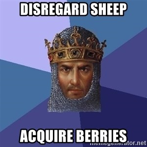 Age Of Empires - Disregard sheep acquire berries