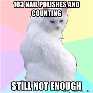 Beauty Addict Kitty - 103 nail polishes and counting still not enough