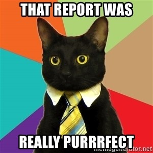 Business Cat - that report was really purrrfect