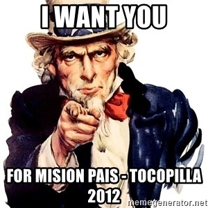 Uncle Sam Point - I want you for mision pais - tocopilla 2012