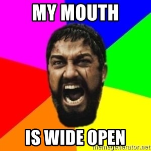 sparta - MY MOUTH IS WIDE OPEN