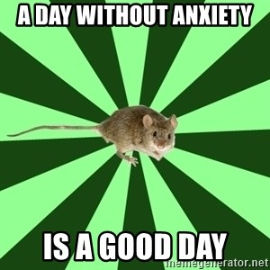 Mental Illness Mouse - a day without anxiety is a good day