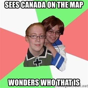 Hetalia Fans - sees canada on the map wonders who that is